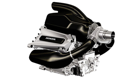 F1 Honda V6 turbo hybrid power unit