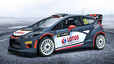 WRC Ford Fiesta RS Robert Kubica