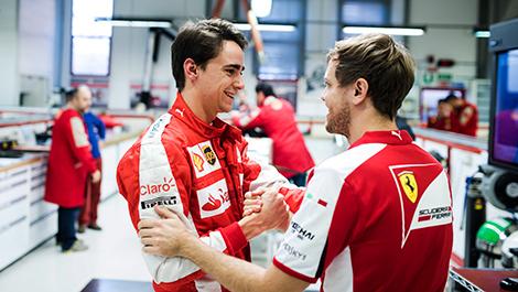 F1 Esteban Guttierrez Ferrari Sebastian Vettel Maranello