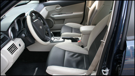 The Avenger's interior is accented with tasteful chrome accents,