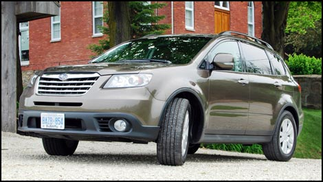 The original face of the 2005 B9 Tribeca has been replaced by a more
