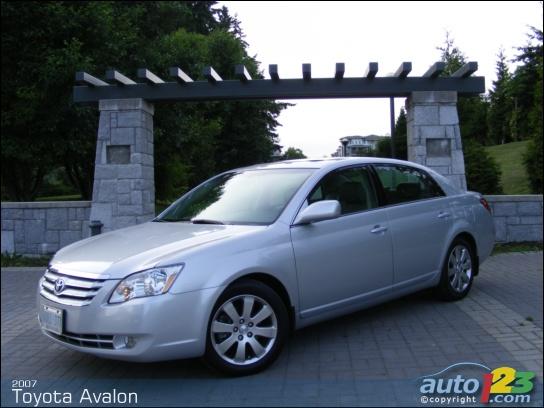 Black 2007 Toyota Avalon Ivory Interior