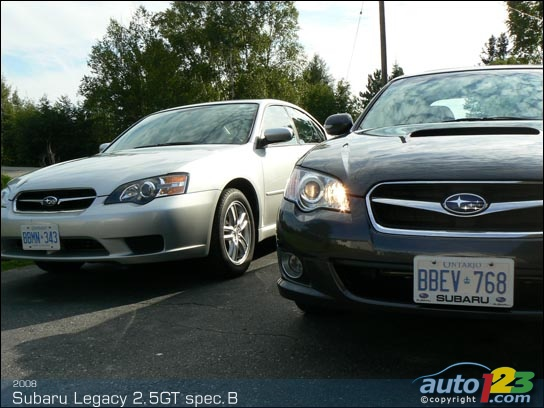 2008 Subaru Legacy 2.5GT spec.B Road Test (video)