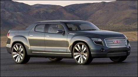 quand le pick up devient voiture de luxe l 39 hybride de gmc truck blog. Black Bedroom Furniture Sets. Home Design Ideas