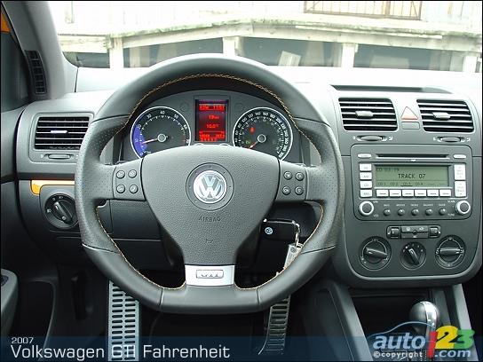 Volkswagen GTI Interior. Volkswagen GTI interior photos