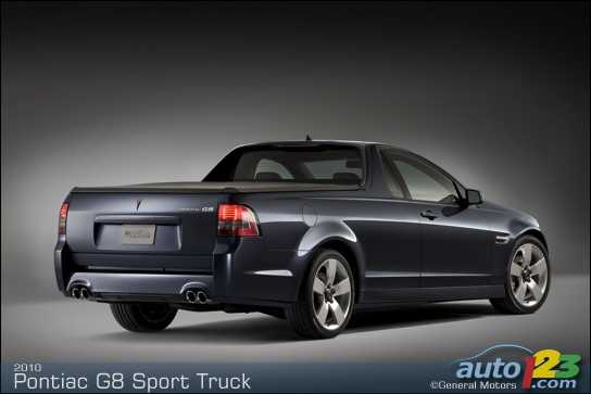 Pontiac to present the 2010 G8 Sport Truck at the New York Auto Show