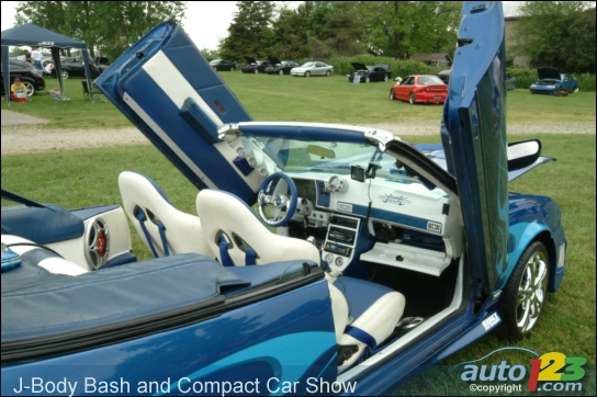 GM's J-Body bash, Compact Car Show, and the 2009 Solstice Coupe!