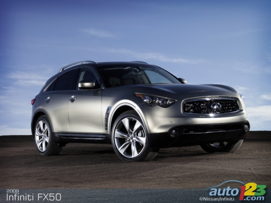 Infiniti FX First Detail pictures