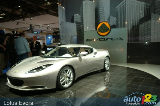 The new Lotus Evora wows the press at the British International Motor Show