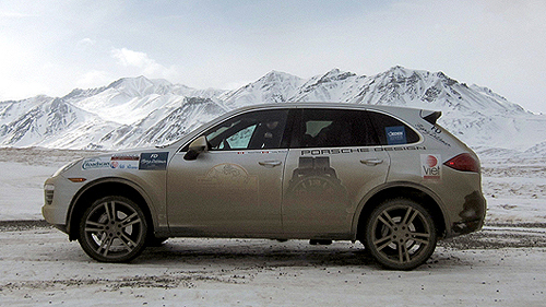 Porsche Cayenne Arctic Route Adventure: some rolling footage Video