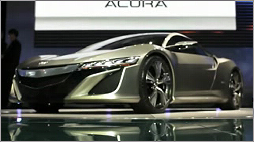 VIDEO: Acura NSX Concept at Detroit Auto Show Video
