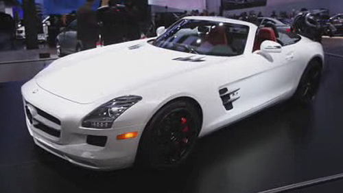 2012 Mercedes-Benz SLS AMG Roadster in Detroit Video