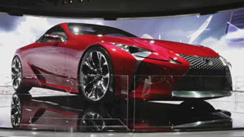 Lexus LF-LC Concept at the Detroit Auto Show Video