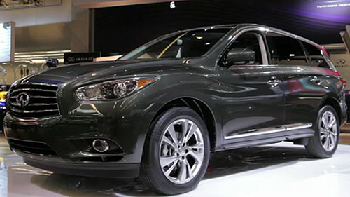 2013 Infiniti JX at the Montreal Auto Show Video