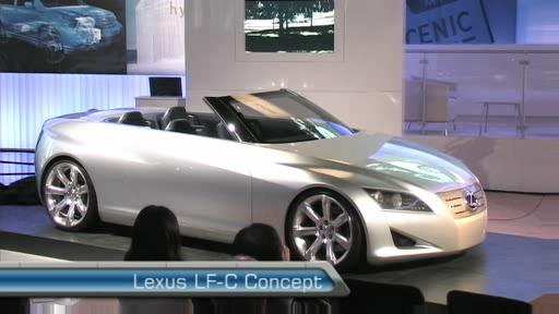 Lexus LF-C Concept at the 2007 Toronto Auto (VIDEO) Video