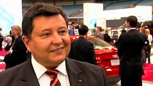 Audi's Diego Ramos at the Vancouver Auto Show Video