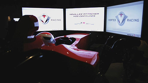 Visite au centre de simulateurs de pilotage Vortex Racing Video