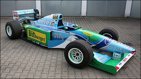 vendre une benetton ford 1994 de f1 de michael schumacher. Black Bedroom Furniture Sets. Home Design Ideas