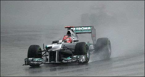 Michael Schumacher at the Malaysian Grand Prix (Photo: Mercedes AMG)