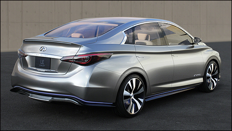 2012 Prototype Infiniti LE rear 3/4 view