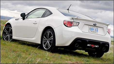 2013 Subaru BRZ rear 3/4 view