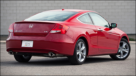 2012 Honda Accord Coupe EX L V6 Rear 3/4 View
