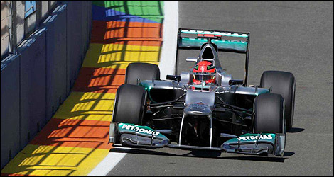 F1 Michael Schumacher Mercedes DRS
