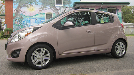 2013 chevrolet spark 2lt side view