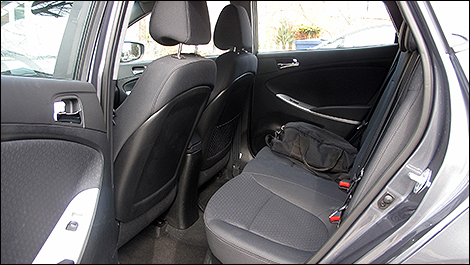 2013 Hyundai Accent GLS rear seats