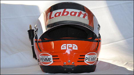 une r plique stup fiante du casque gilles villeneuve de 1981 photos. Black Bedroom Furniture Sets. Home Design Ideas