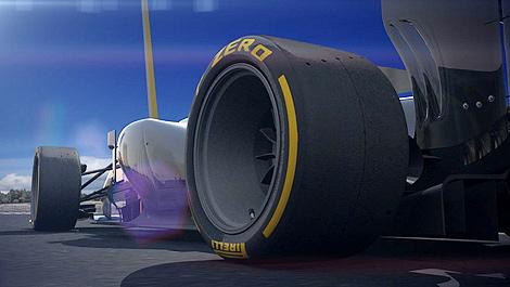 f1 pirelli d voile son pneu taille basse 18 pouces. Black Bedroom Furniture Sets. Home Design Ideas
