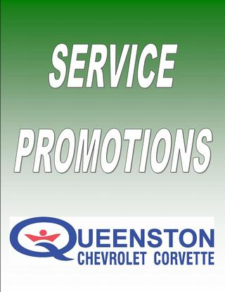 Queenston Chevrolet Parts & Maintenance Promotion: Service Specials