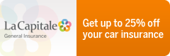 La Capitale - General Insurance - Get up to 25% off your car insurance